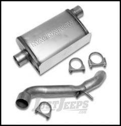 Warrior Products Off Road Exhaust System For 2007-18 Jeep Wrangler JK 2 Door & Unlimited 4 Door Models 2240