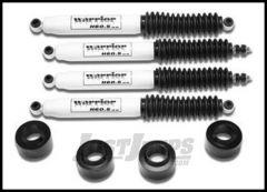 "Warrior Products 2"" Poly Spacer Lift Kit with Shocks For 2007-14 Jeep Wrangler JK 2 Door & Unlimited 4 Door Models 30820"