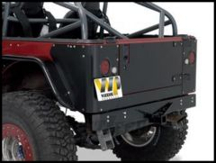 Warrior Products Standard Rear Bumper with Receiver For 1987-95 Jeep Wrangler YJ 510