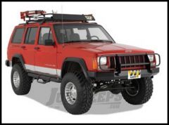 Warrior Products Rock Crawler Front Bumper with Brush Guard and D-Ring Mounts For 1984-01 Jeep Cherokee XJ Models 56051