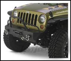 Warrior Products Stubby Winch Bumper with Pre-Runner Brush Guard For 2007-18 Jeep Wrangler JK 2 Door & Unlimited 4 Door Models 59750