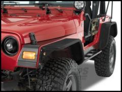 Warrior Products Rear Tube Flares For 1997-06 Jeep Wrangler TJ Models (Diamond Plate) 7302