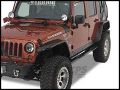Warrior Products Front Tube Flares For 2007-18 Jeep Wrangler JK 2 Door & Unlimited 4 Door Models (Polished Diamond) 7311
