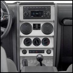 Warrior Products Dash Panel Overlay For 2007-08 Jeep Wrangler JK 2 Door Models 90401PA