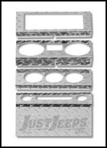 Warrior Products Dash Overlay For 2009-10 Jeep Wrangler JK Unlimited 4 Door Models 90406