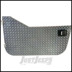 Warrior Products Aluminum Diamond Plate Half Doors with Rotary Style Paddle Latch For 1980-95 Jeep Wrangler YJ & CJ Series 907DOOR