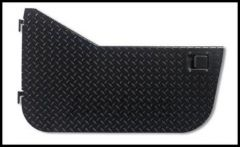 Warrior Products Black Powder Coated Aluminum Diamond Plate Front Half Doors with Rotary Style Paddle Latch For 2007-18 Jeep Wrangler JK 2 Door & Unlimited 4 Door Models 920DOORPC