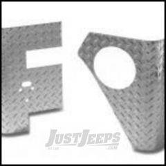 Warrior Products Rear Corners w/o Light Holes For 2007-18 Jeep Wrangler JK 2 Door Models (Aluminum Diamond Tread) 924