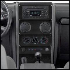 Warrior Products Dash Panel Overlay For 2009-10 Jeep Wrangler JK 2 Door & Unlimited 4 Door Models S90405