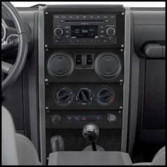 Warrior Products Dash Panel Overlay For 2009-10 Jeep Wrangler JK Unlimited 4 Door Models S90406