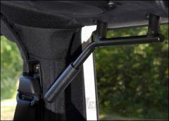 Welcome Distributing Rear GraBars Pair In Black Steel with Black Rubber Grips For 2007-18 Jeep Wrangler JK 2 Door Models 1002