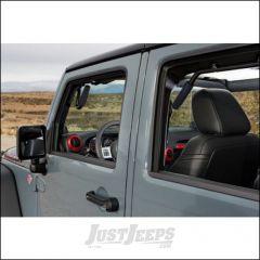 Welcome Distributing Front & Rear GraBars In Black Steel with Black Rubber Grip For 2007-18 Jeep Wrangler JK 2 Door Models 1003