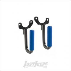 Welcome Distributing Front GraBars Pair In Black Steel with Blue Rubber Grips For 1997-06 Jeep Wrangler TJ & TLJ Unlimited Models 1018B