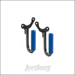 Welcome Distributing Front GraBars Pair In Black Steel with Blue Rubber Grips For 1987-95 Jeep Wrangler YJ 1019B