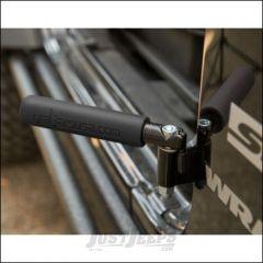Welcome Distributing GraBar BootBars (Foot Pegs) Pair In Black Steel with Black Dual Layer Rubber Grips For 2007-18 Jeep Wrangler JK 2 Door & Unlimited 4 Door Models 1021