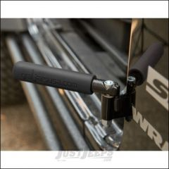 Welcome Distributing GraBar BootBars (Foot Pegs) Pair In Black Steel with Black Dual Layer Rubber Grips For 1987-06 Jeep Wrangler YJ & TJ Models 1021TY