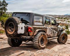 Westin WJ2 Rear Bumper with Tire Carrier for 18+ Jeep Wrangler JL, JLU 82055-