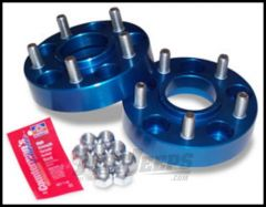 "SpiderTrax Wheel Spacer 1.50"" 5 X 5 Bolt Pattern In Blue For 2007-18 Jeep Wrangler JK/JKU, 2006-10 Commander XK & 2005-10 Grand Cherokee WK Models WHS010"