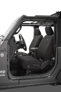 BESTOP Front Seat Covers For 2018+ Jeep Wrangler JL 2 Door Models 29293-