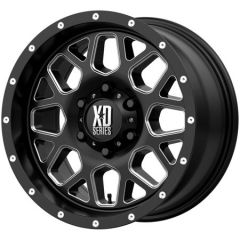 KMC XD820 Grenade Satin Black With Milled Accents 17x8.5 5X5 w/4.75BS XD82078550900