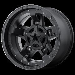 KMC XD827 Rockstar RS3 Matte Black Accents 17x9 5X4.50/5X5 w/4.53BS XD82779054712N