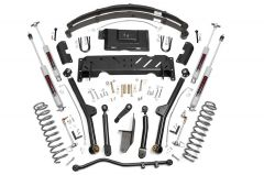 """Rough Country 4½"""" Long Arm Suspension Kit With Full Leaf Springs & N3 Shocks For 1984-01 Jeep Cherokee XJ With 2.5L or 4.0L & NP231 Transfer Case 68622"""