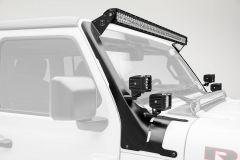 ZROADZ Roof Light Mount & Dual Pod Brackets For 2018+ Jeep Gladiator JT & Wrangler JL Unlimited 4 Door Models Z374831-BK4