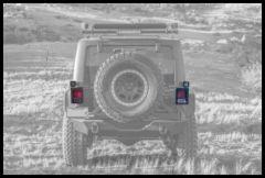 """ZROADZ Taillight Protector 3"""" LED Mount Kit For 2007-18 Jeep Wrangler JK 2 Door & Unlimited 4 Door Models Z384811"""